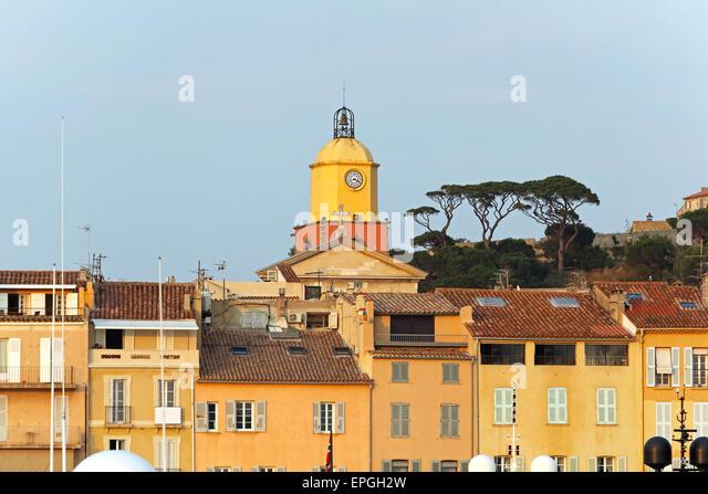 Saint Tropez clock tower - Stock Image
