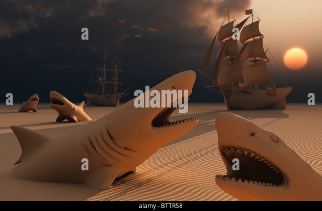 Dangerous Sands - Stock Image