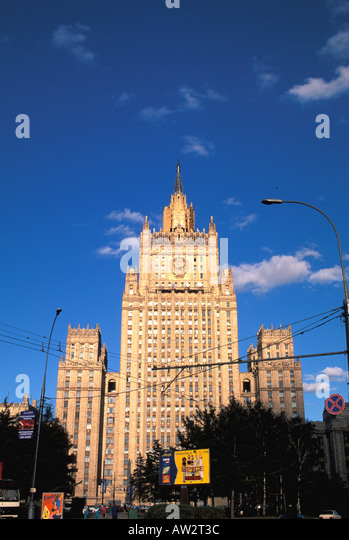 Moscow Russia Soviet style Ministry of Foreign Affairs - Stock Image
