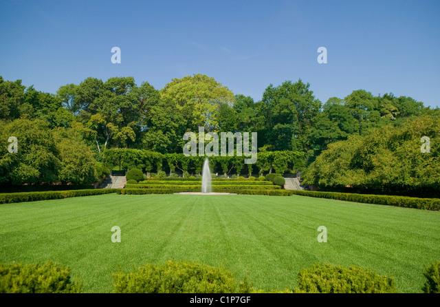 Conservatory Garden Central Park Stock Photos