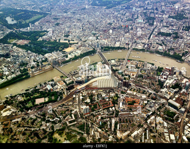 United Kingdom, England, Greater London, London from above - Stock Image