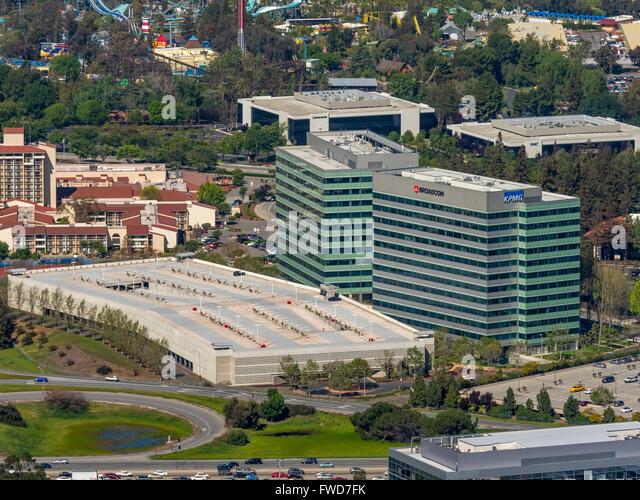 Vishay Americas inc. Broadcom ca technologies, Sophos, Silicon Valley, California - Stock Image