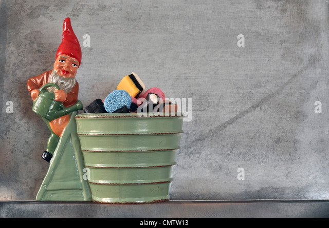 Christmas bowl with candy - Stock Image