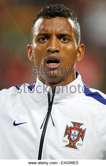 Algarve, Portugal. 14th November, 2014. PORTUGAL, Faro: Portugal's forward Nani before the UEFA EURO 2016 FRANCE, - Stock Image