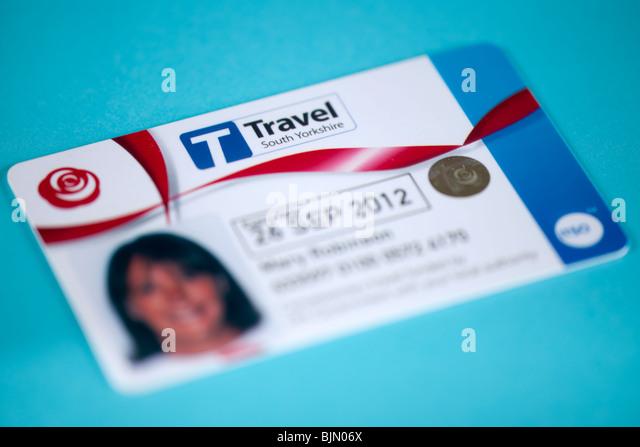 Senior citizens concessionary Travel South Yorkshire bus travel pass - Stock-Bilder