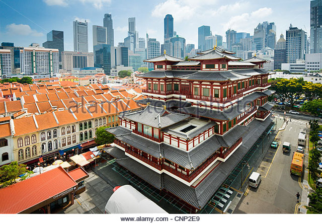 Buddha Tooth Relic Temple and Museum, Chinatown, Singapore. - Stock Image