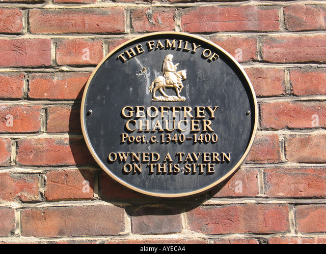 the family of Geoffrey Chaucer poet c1340-1400 owned a tavern on this site in Ipswich UK - Stock Image