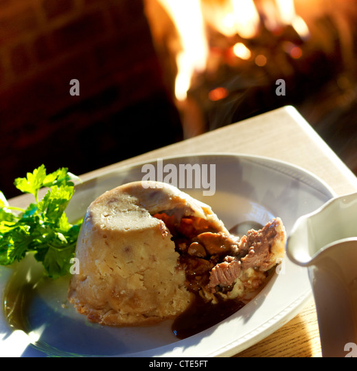 A still life shot of a delicious suet pudding - Stock Image