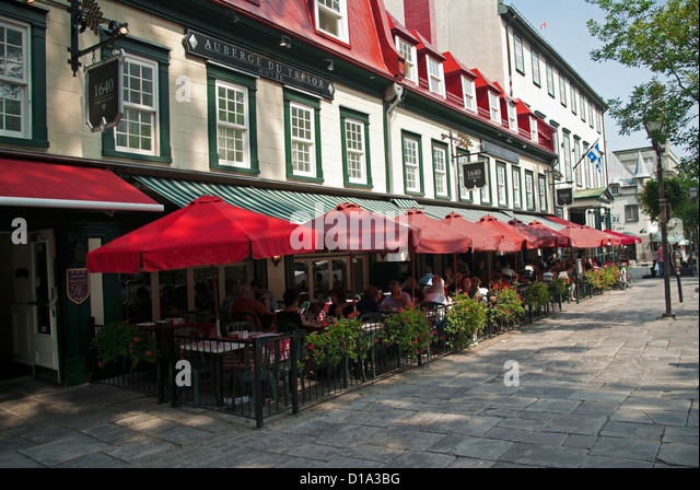 Quebec city restaurant 1640 stock photos quebec city for Terrace 45 qc