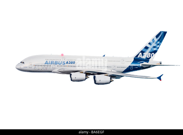 Cut out illustration of Airbus A380 - Stock Image