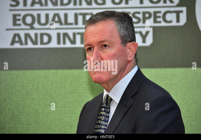 Armagh City, UK. 15th February 2017. Sinn Féin's Conor Murphy during the 2017 Manifesto launch in Armagh - Stock Image