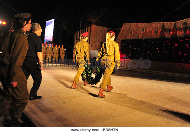 Memorial Ceremony for Fallen Paratroopers Force - Stock Image