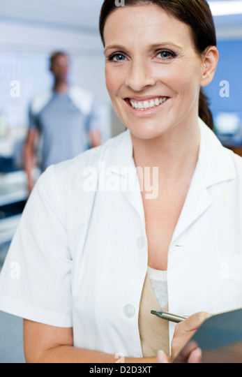 MODEL RELEASED Sports science researcher - Stock Image