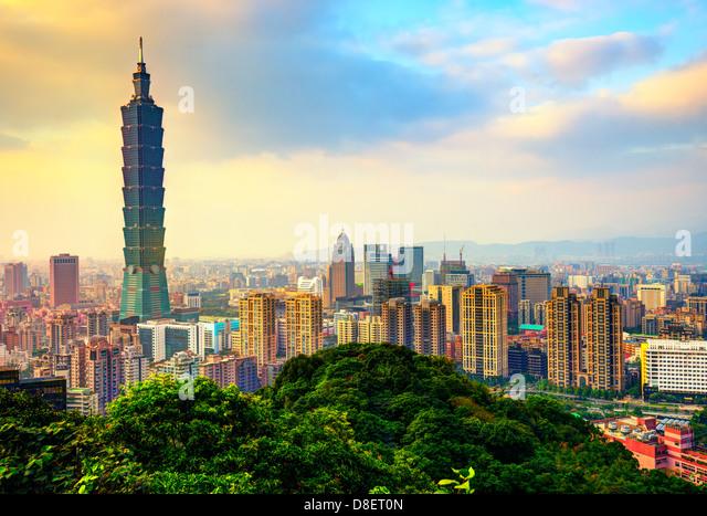 Taipei Taiwan skyline - Stock Image