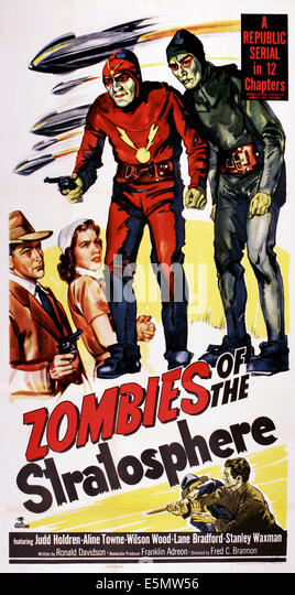 ZOMBIES OF THE STRATOSPHERE, US poster art, 1952. - Stock Image