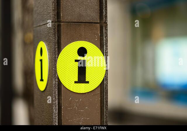 Tourist information sign. - Stock-Bilder