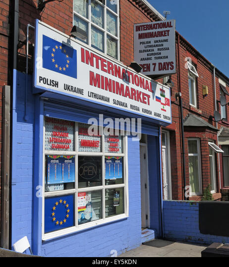 Polish international MiniMarket shop, Padgate, Warrington, Cheshire, England, UK - Stock Image