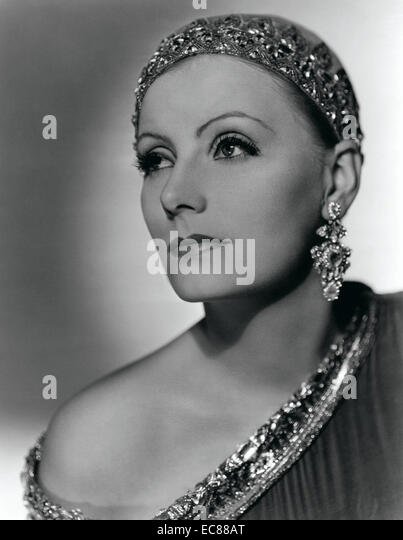 Photograph of Greta Garbo (1905-1990) Swedish film actress during Hollywood's silent and classic period. Dated - Stock-Bilder