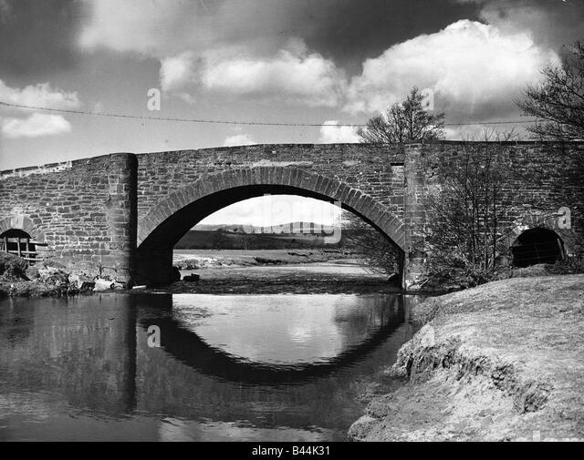 River Blane bridge June 1951 Near Killearn - Stock Image