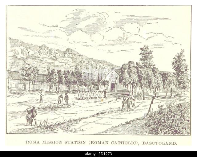 IY188 pg402 ROMAN CATHOLIC MISSION STATION, BASUTOLAND - Stock Image