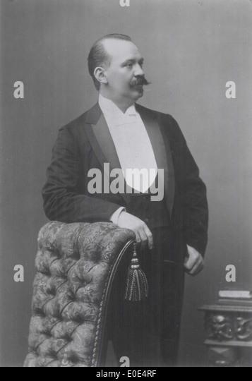 Johan Svendsen portrait - Stock Image