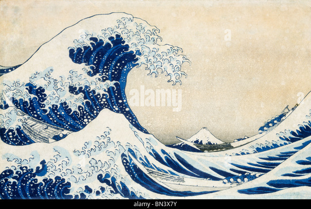 The Great Wave, by Katsushika Hokusai. Japan, 19th century - Stock Image