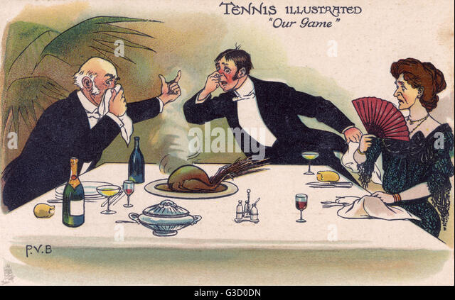 Tennis Illustrated 'Our Game' - A game bird served to the table unfortunately gives off rather a pungent - Stock Image