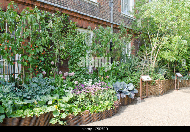 Prince Charles's Start initiative  for sustainable living. Clarence House garden - Stock Image
