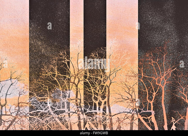 Modern creative graphic texture design digital contemporary art - Stock Image