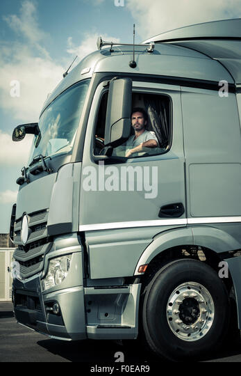 Tractor Trailer Stock : Hauler stock photos images alamy