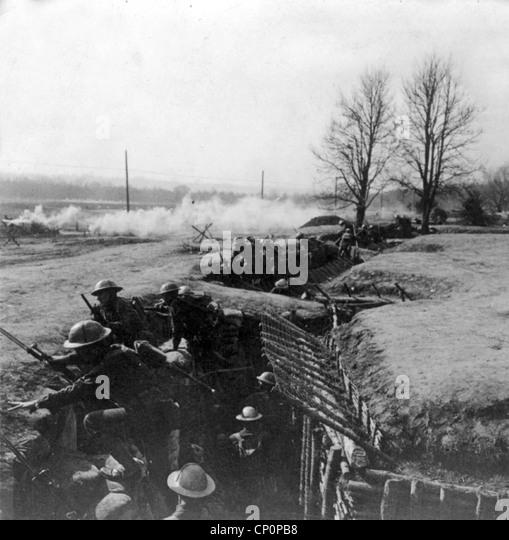British trench, World War One - Stock Image