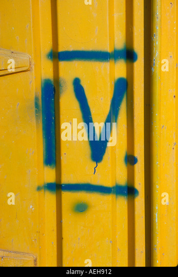 graffiti roman numerals. Photo by Willy Matheisl - Stock Image