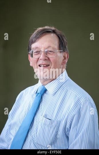 Professor of Politics, Iain McLean, appearing at the Edinburgh International Book Festival. - Stock Image