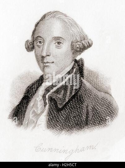 John Cunningham, 1729 ? 1773.  Dublin born playwright, poet and actor. - Stock-Bilder