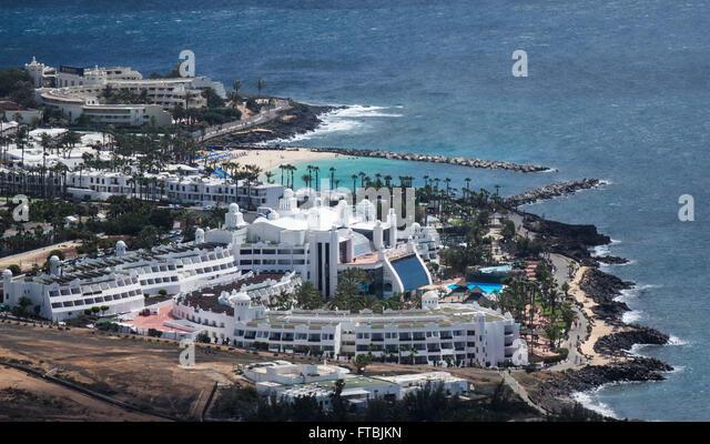 Spain, Canary islands, Lanzarote, Playa Blanca hotels - Stock-Bilder