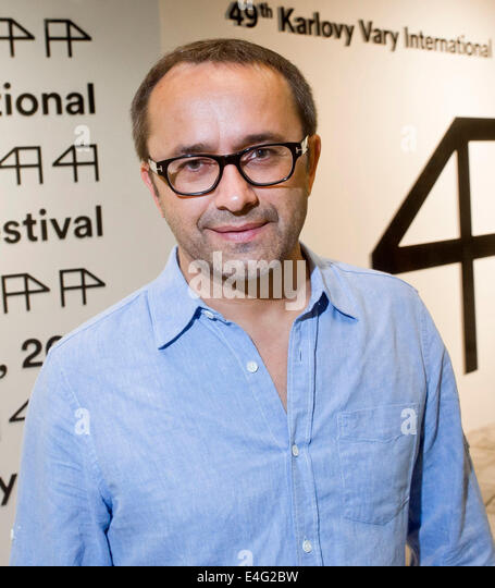 Karlovy Vary, Czech Republic. 9th July, 2014. Russian director Andrei Zvyagintsev attends a screening of his competitive - Stock-Bilder