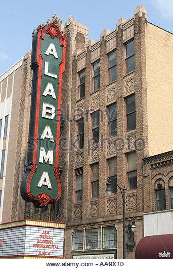 Alabama Birmingham Third Street North The Alabama Theatre built 1927 - Stock Image