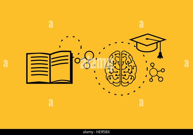 Learning ability concept design. Strategy education, development business skill, solution work, success learn, motivation - Stock-Bilder