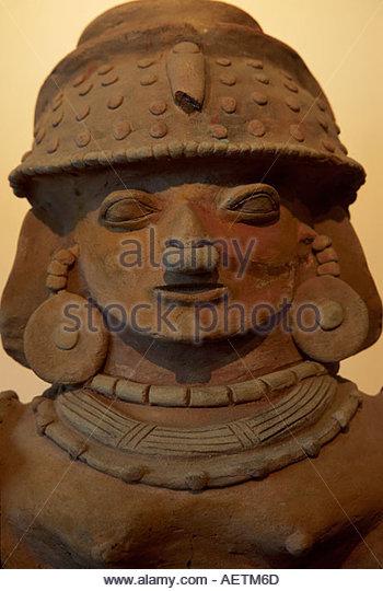 Ecuador Guayaquil Central Bank Museum artifacts exhibit Jama Coaque 300 A.D. from Guayas Province - Stock Image