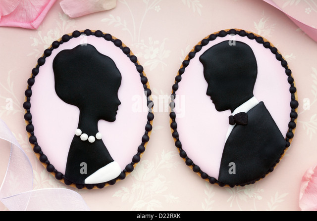 Wedding cookies - Stock Image