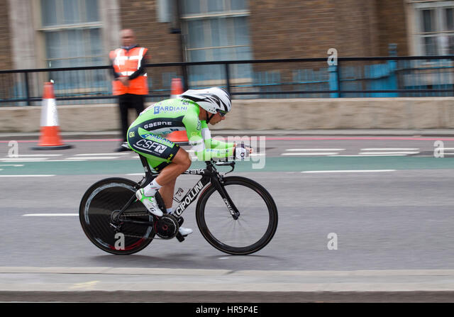 Penultimate and a short time trial stage of the 2014 Tour of Britain - Stock Image