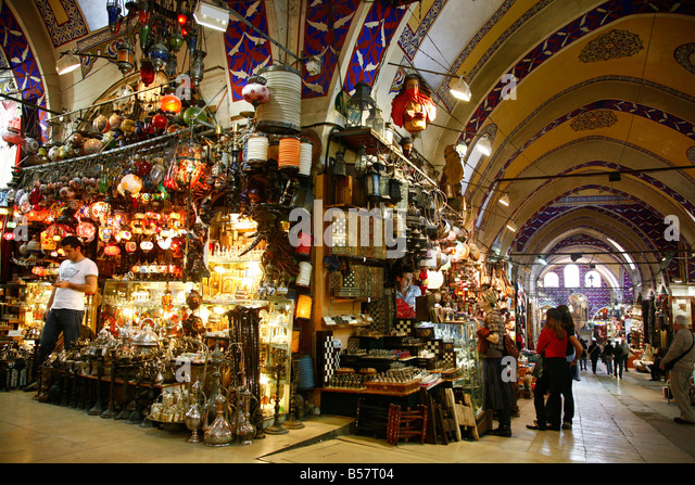 The Grand Bazaar (Kapali Carsi), Istanbul, Turkey, Europe - Stock Image