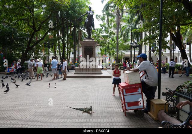 Plaza de Bolivar, Cartagena, Colombia - Stock Image