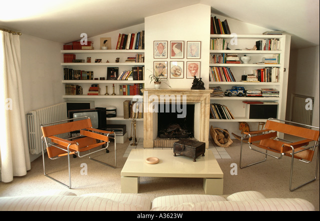 Wassily Chair Stock Photos amp Wassily Chair Stock Images  : marcel breuer leatherchrome wassily chairs in modern livingroom with a3623w from www.alamy.com size 640 x 442 jpeg 82kB