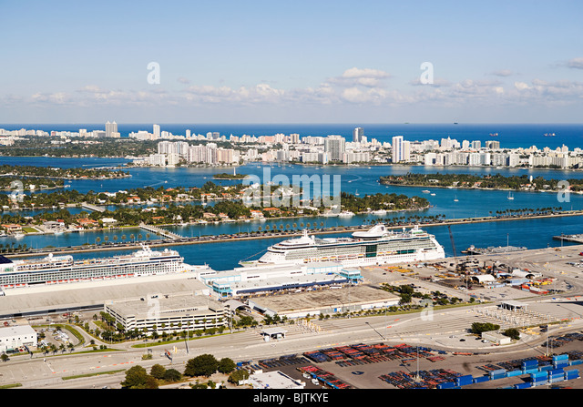 Miami harbor - Stock Image