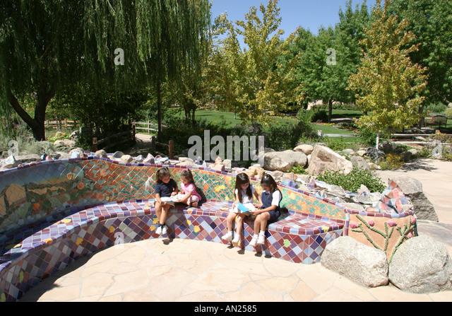 Albuquerque New Mexico Biological Park Rio Grande Botanic Garden Children's Fantasy Garden W - Stock Image