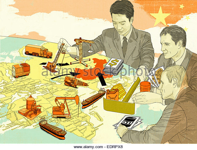 China dominating global natural resources game - Stock Image