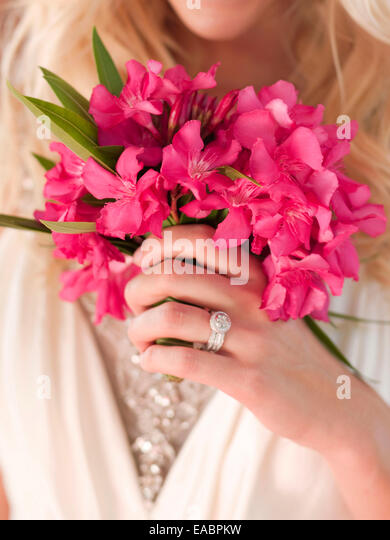detail of Bridal Bouquet of Bougainvillea - Stock Image