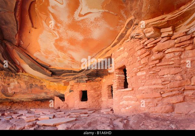 Anasazi ruins in Road Canyon, Utah - Stock Image