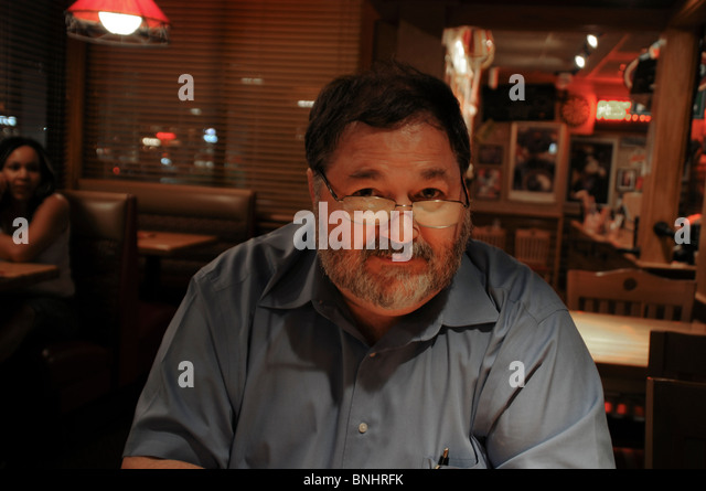 portrait of a middle aged man - Stock Image